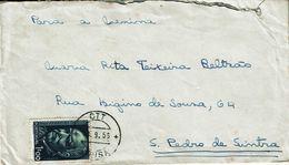 Portugal , 1956 , Lousã Postmark , Prof. Ferreira Da Silva 1$00 Stamp - Postmark Collection