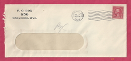 Cover Postmarked In Cheyenne, Wyoming, July 31, 1928, With Scott #599 [#4345] - Postal History