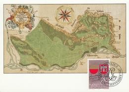 1987 Vaduz - Blason écusson - Carte Karte Card - Cartas Máxima