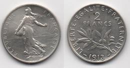 + FRANCE + 2 FRANCS 1913 + TRES BELLE + - France