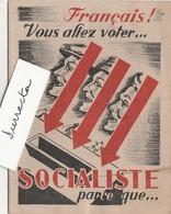 Petit Fascicule 16 Pages / Propagande Socialiste / SFIO / Après 1945 / élections / Politique - Historical Documents