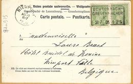 _8Aa-915: 2x N°72: ECHTERNACH/GREVENMACHER  31.7__05: Ambulant-kantoor: > Nieuport Ville BE - 1895 Adolphe Right-hand Side