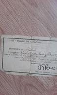 PERMISSION DE SPECTACLE 23 JUILLET 1939 A BITCHE - 1939-45
