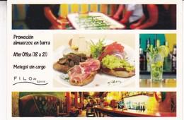 FILO DE BARRA. ALMUERZOS EN BARRA-AFTER OFFICE-METEGOL SIN CARGO. BUENOS AIRES. VIA POSTAL. AÑO 2017. BLEUP - Hotel's & Restaurants