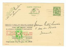 Publibel 214 - LA SOCIETE MUTUELLE - Enteros Postales