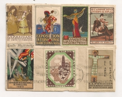7 VIGNETTES  EXPOSICION INTERNATIONAL BARCELONA 1929 / EXPOSITION INTERNATIONALE BARCELONE ERINNOPHILIE  B107 - Spanien