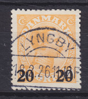 Denmark 1926 Mi. 151    20 Auf 30 Øre Chr. X. Deluxe Brotype IIa LYNGBY (SCARCE) Cancel !! - 1913-47 (Christian X)