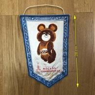 Flag (Pennant / Banderín) ZA000174 - Olympics Moscow 1980 - Apparel, Souvenirs & Other