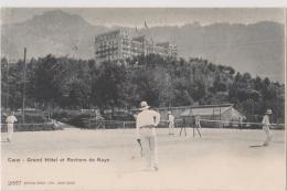 CAUX -  Grand Hôtel Et Rochers De Naye - TENNIS - CPA TBon Etat (voir Scan) - VD Vaud