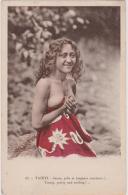 TAHITI - Jeune, Jolie Et Toujours Souriante -  VAHINE EROTISME SEXE - CPA TBon Etat (voir Scan) - French Polynesia