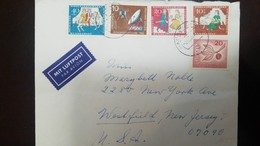O) 1965 GERMANY, COMMUNICATION SATELLITE AND GROUP STATION SC 920, SCENES FROM CINDERELLA,  MIT LUFTPOST TO USA - Germany