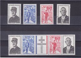 FRANCE 1971 DE GAULLE Yvert 1695-1698 + 1698A NEUF** MNH Cote : 5,40 Euros - France