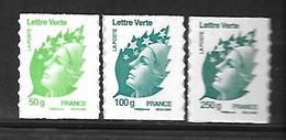 A283  Adhésif Marianne De Beaujard N°605, 606, 607 N++ - France