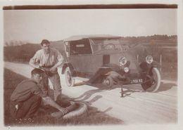 Vdrl - 27  - Voiture Ancienne - Crevaison - Changement De Pneu - Près La Croix-Saint-Leufroy - PHOTO Prise En Avril 1933 - Passenger Cars