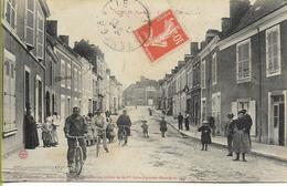 """CONLIE  Grande Rue (?) édition Besnardeau """"auteur"""" De La 1ére Carte Illustrée En 1870 ! - Conlie"""
