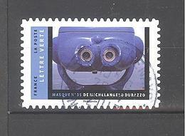 France Autoadhésif Oblitéré N°1405 (Masque De Michelangelo Durazzo) (Cachet Rond) - France