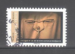 France Autoadhésif Oblitéré N°1404 (Masque De Michelangelo Durazzo) (Cachet Rond) - France