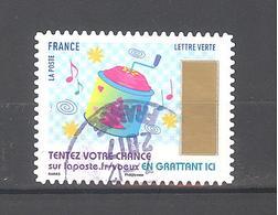 France Autoadhésif Oblitéré N°1495 (Timbres De Voeux) (Cachet Rond) - France