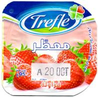 "Opercule Cover Yaourt Yogurt "" Trèfle "" Aromatisé Fraise Strawberry New Design Yoghurt Yoghourt Yahourt Yogourt - Milk Tops (Milk Lids)"