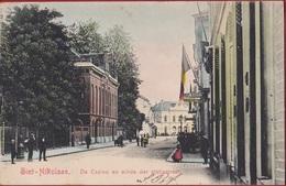Sint-Niklaas 1903 Nikolaas Saint-Nicolas De Casino En Einde Der Statiestraat - Ingekleurd (In Zeer Goede Staat) Waasland - Sint-Niklaas