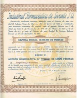 Ancienne Action - Industrial Farmaceutica De Levante S.A.- Titulo De 1965 - - Industrie