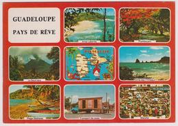 97 - GUADELOUPE - Pays De Rêve - Multivues Avec Carte Géographique De L'île - Ed. IMAGES CARAIBES N° S.004 - 1987 - Non Classés