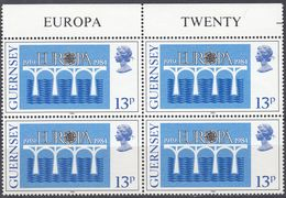 GUERNSEY - 1984 - Serie Completa In Quartine Nuove MNH Con Margine Di Foglio: Yvert 286/287, Europa. - Guernesey