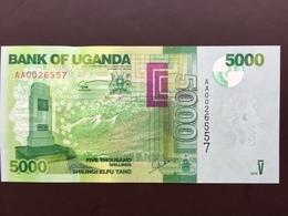 UGANDA P51 5000 SHILLING 2010 UNC - Ouganda