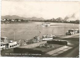 X4463 Bonn - Rheinpromenade Mit Blick Auf Siebengebirge - Barche Boats Bateaux / Viaggiata 1961 - Bonn