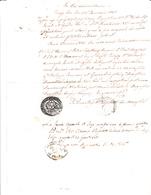Certificazione Curia Ecclesiastica Di Ancona, Documento Certificazione Da Treja 1848 - Manoscritti