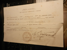 19000) PAN EUROPEAN NAVIGATION CAPTAIN NAVE MAYAN 1939 ATTESTATO NAVIGAZIONE - Barche