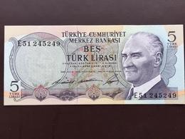 TURKEY P179 5 LIRA L1930 UNC - Turkije