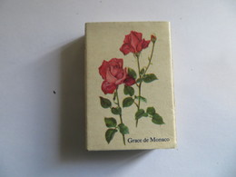 Boite D'allumette Fleur Rosier Grace De Monaco Rosier Francis Meilland - Matchboxes