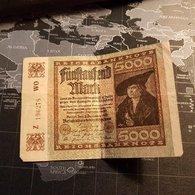 5000 Mark 2 December 1922 - [ 3] 1918-1933 : République De Weimar
