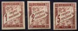 COLONIES GENERALES - 1, 2 Et 3 F. Taxe Marron Neuf TB - Portomarken