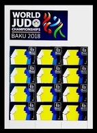Azerbaïjan 2018 Mih. 1388 World Judo Championships In Baku (M/S) MNH ** - Azerbaijan