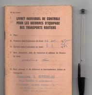 Livret De Controle Membres équipage Transports Routiers, De 1975, 94 Pages, Transports BERTHELOT,  ROMAGNE FOUGERES (35) - Camions
