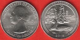 """USA Quarter (1/4 Dollar) 2018 P Mint """"Voyageurs"""" UNC - 2010-...: National Parks"""