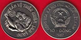 """Vietnam 10 Dong 1987 Km#28 """"Orangutan"""" UNC - Viêt-Nam"""