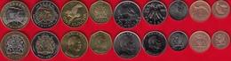 Malawi Set Of 9 Coins: 1 Tambala - 10 Kwacha 1995-2006 UNC - Malawi