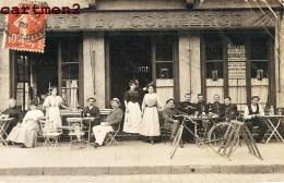 CARTE PHOTO : LYON CROIX-ROUSSE GUILLOTIERE ? DEVANTURE CAFE DU COMMERCE BILLARD GRAND CINEMA ABONDANCE - Sonstige