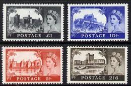 Great Britain 1967 Castles (wmk Multiple Crowns) Set Of 4 U/m, SG 595a-98a - 1952-.... (Elizabeth II)
