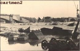 CARTE PHOTO : LYON GUERRE 40 SECONDE GUERRE MONDIALE BOMBARDEMENT BOCHES PONT SAINT-CLAIR CALUIRE GUERRE - Lyon
