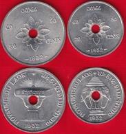 Laos Set Of 2 Coins: 20 - 50 Cents 1952 UNC - Laos
