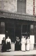 CARTE PHOTO : LYON OU PARIS BOUCHERIE GARNIER A LOCALISER DEVANTURE BOUCHER COMMERCE - Handel