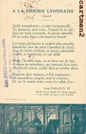 LYON PUBLICITE A LA SOIERIE LYONNAISE LOUIS PAILLEUX POETE METIER CANUT SOIE AUX DEUX ORPHELINES CROIX-ROUSSE - Lyon