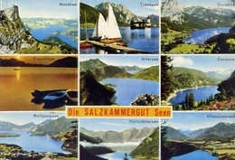 Die Salzkammergut  Seen - Formato Grande Viaggiata – E 7 - Cartoline