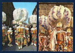 Binche. Carnaval. Les Gilles. Lot De 6 Cartes. 1984 Et 1985 - Binche
