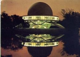 Buenos Aires - Parque 3 De Febrero - Vista Nocturna Del Planetario - Formato Grande Viaggiata – E 7 - Cartoline