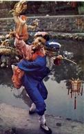 Catholic Children Chinese Foklori St Dance Troup - China - Formato Grande Viaggiata – E 7 - Cartoline